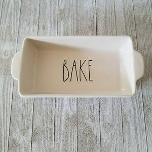 Rae Dunn BAKE Baking Dish Casserole Meatloaf Pan